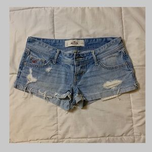 Blue Distressed Hollister Shorts Size 0